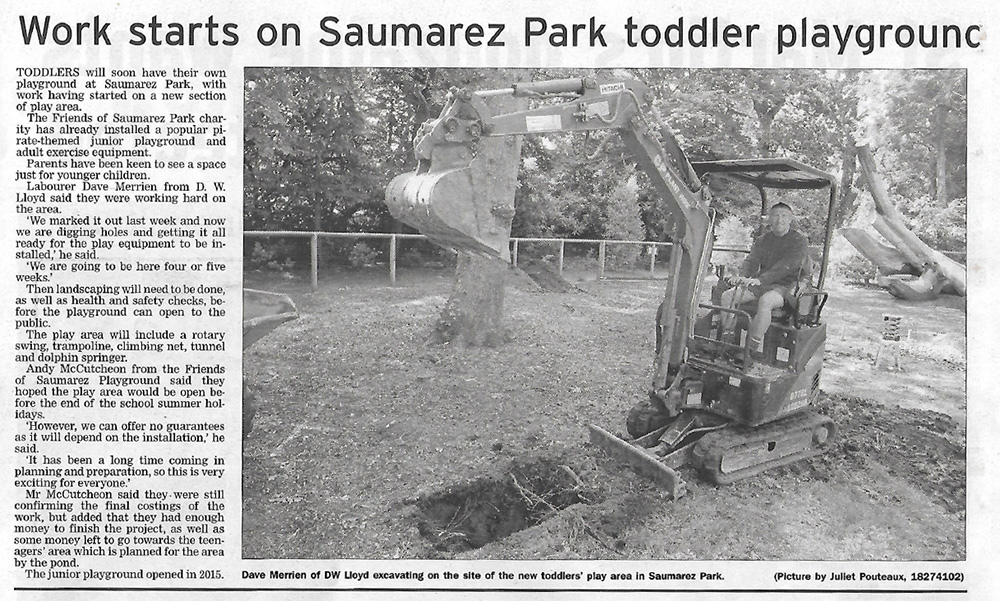 Work Starts On Saumarez Park Toddler Playground